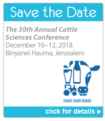Save the Date - The 30th Annual Cattle Sciences Conference. December 10-12, 2018. Binyanei Hauma, Jerusalem. Click for details